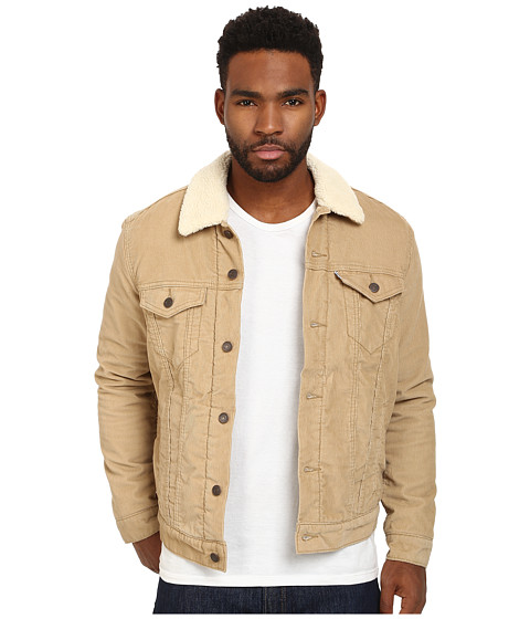 levi 39 s mens sherpa trucker jacket at. Black Bedroom Furniture Sets. Home Design Ideas