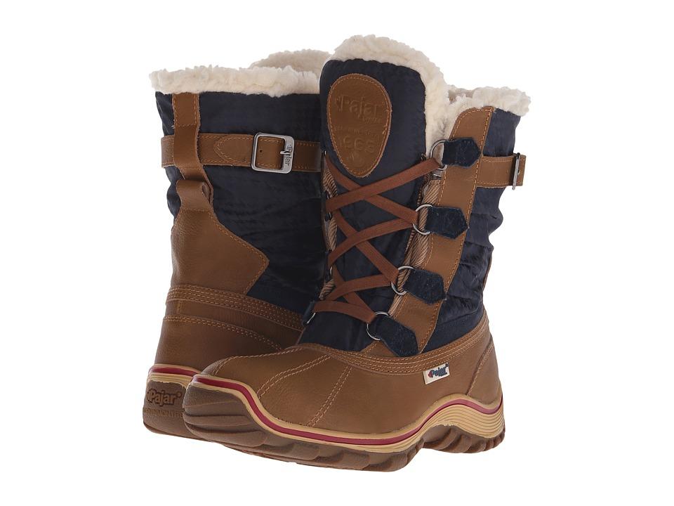 Pajar CANADA Adriana Low Cognac/Navy Womens Boots