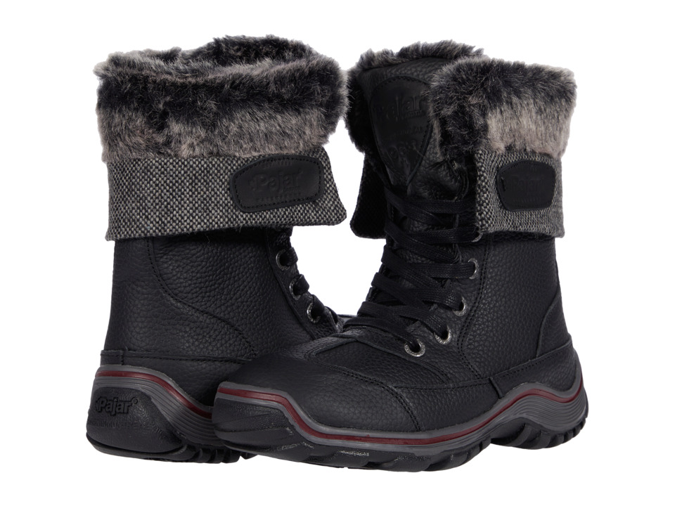 Pajar CANADA Alice Black Womens Hiking Boots