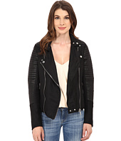 Blank NYC - Two-Tone Fabric w/ Vegan Leather Moto Jacket
