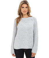 TWO by Vince Camuto - Mohair Blend Marled Cable Stitch Pullover