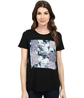 TWO by Vince Camuto - Short Sleeve Scenic Vapors Patchwork Tee