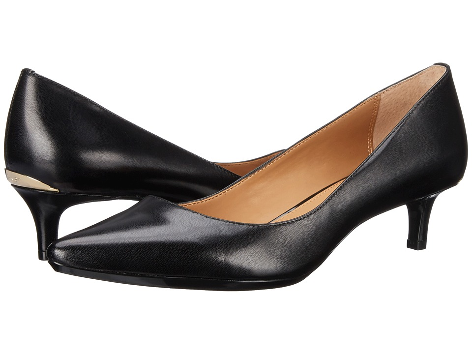 Calvin Klein Gabrianna Pump (Black Kidskin) 1-2 inch heel Shoes