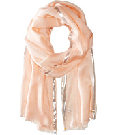 Calvin Klein - Color Block Lurex Border Crepe Wrap