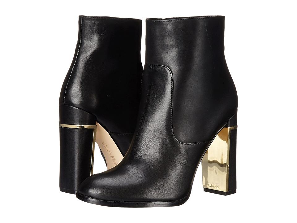 Calvin Klein - Karlia (Black Leather) Women