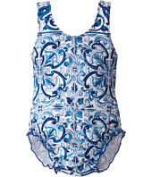Dolce & Gabbana Kids - Mediteranean Print Swimsuit (Infant)