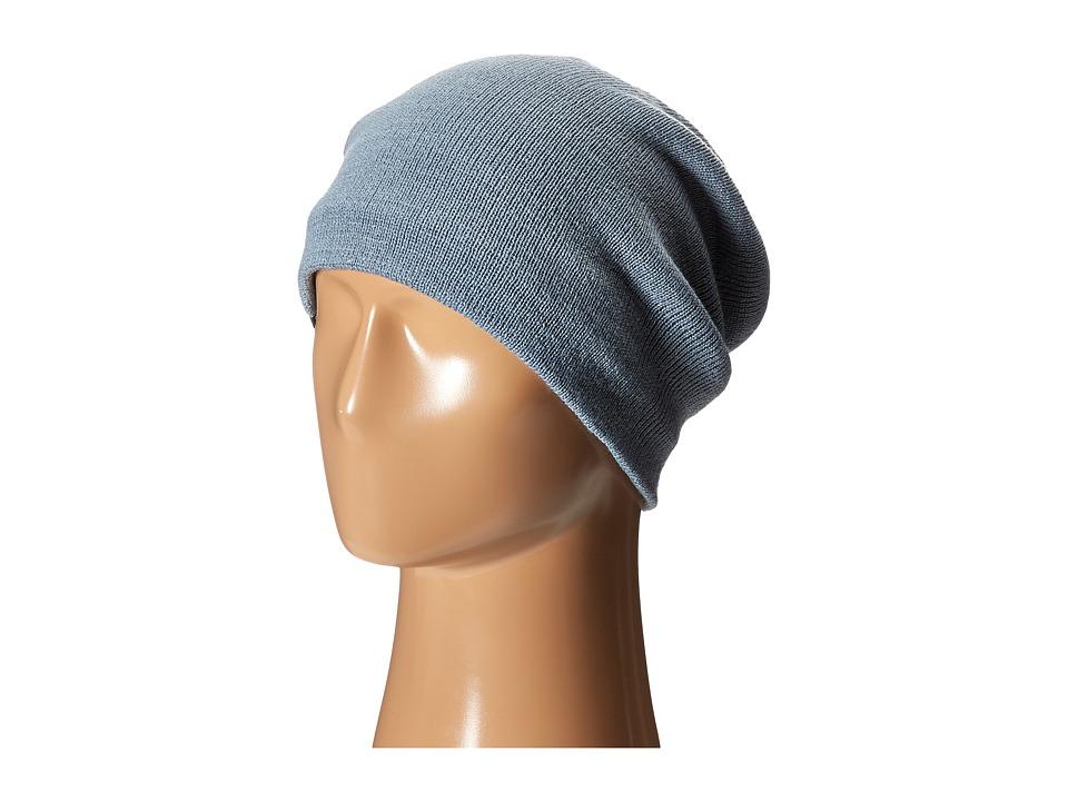 Plush Fleece Lined Barca Hat Steel Blue Beanies