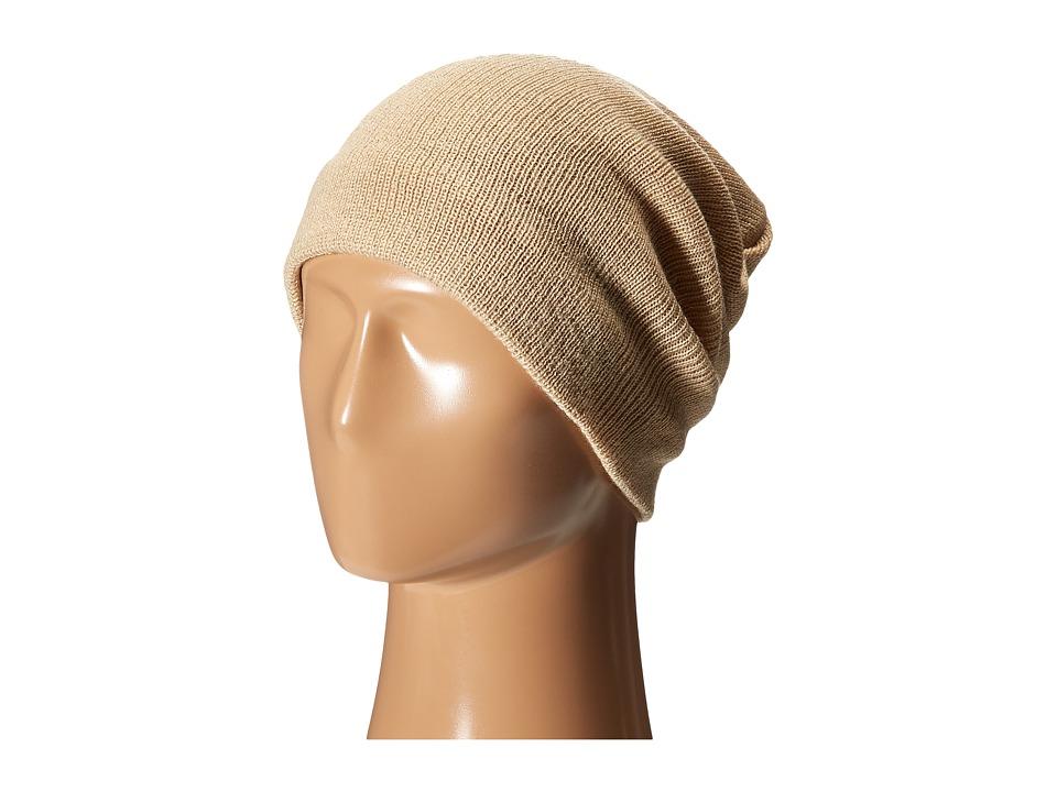 Plush Fleece Lined Barca Hat Tan Beanies