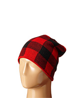 Plush - Fleece - Lined Plaid Beanie