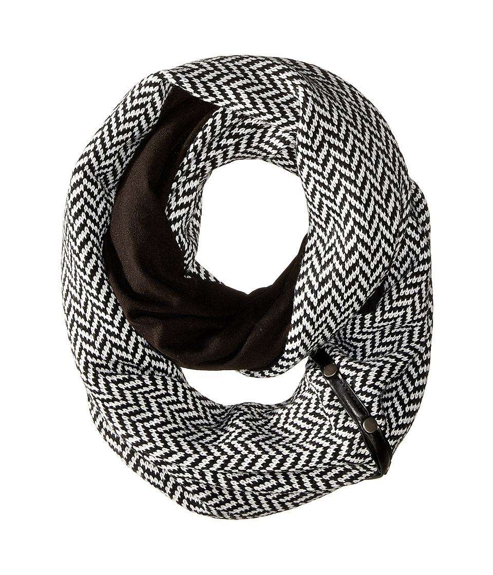 Plush - Fleece - Lined Herringbone Snap Scarf