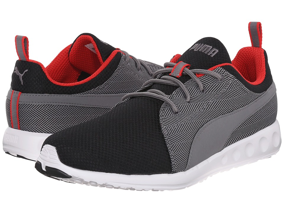 PUMA Carson Runner Herring Black/Steel Gray/High Risk Red Mens Shoes