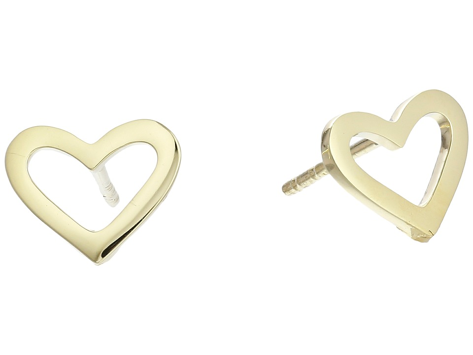 Roberto Coin - Open Heart Stud Earrings - Tiny Treasures