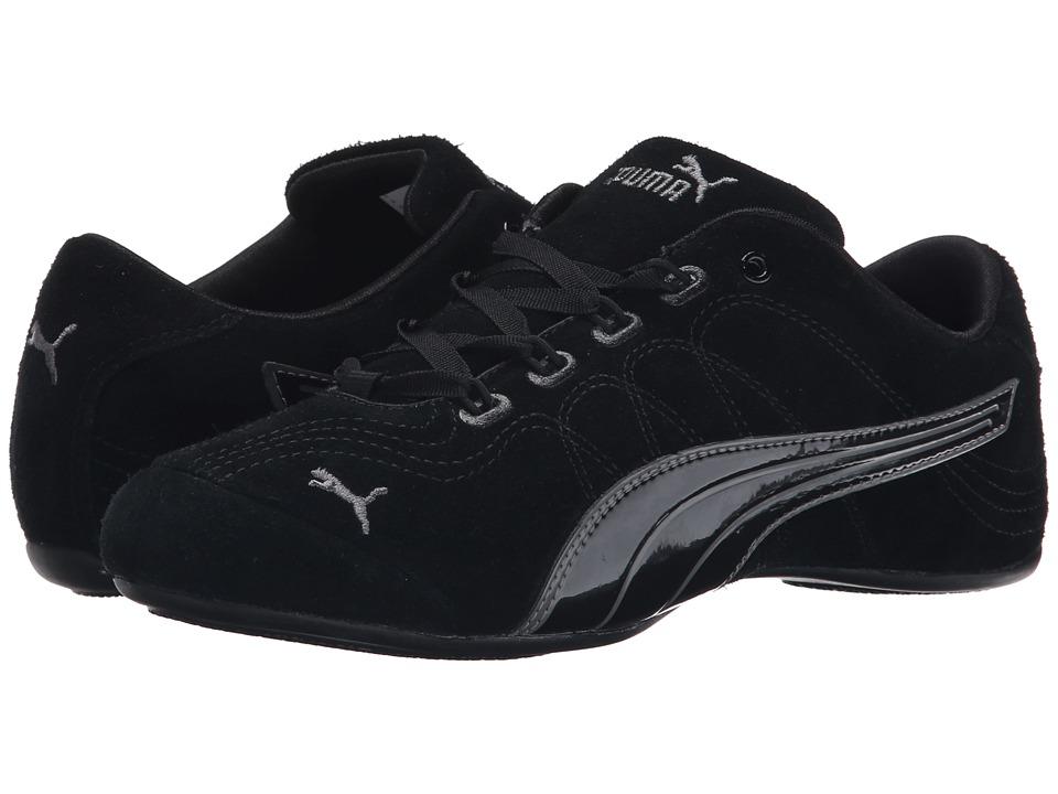 PUMA Soleil V2 Suede Patent Black/Steel Gray Womens Shoes