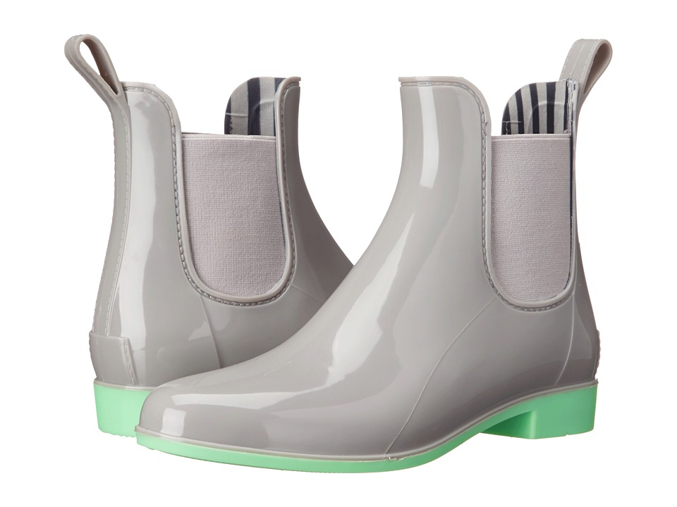 NoSoX Myst Grey/Mint Womens Rain Boots