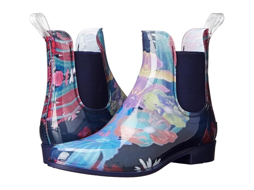 NoSoX Myst Navy/Floral Womens Rain Boots