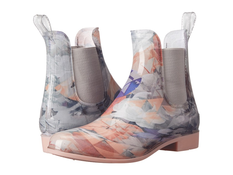 NoSoX Myst Pink/Floral Womens Rain Boots