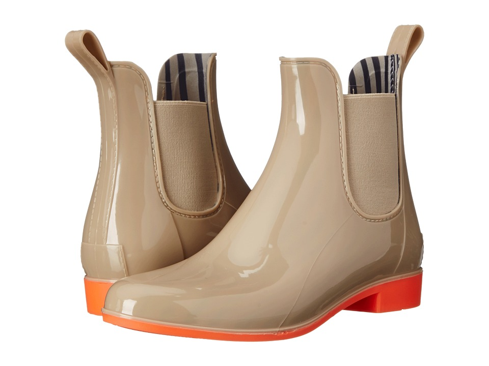 NoSoX Myst Taupe/Orange Womens Rain Boots