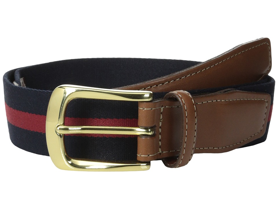 Torino Leather Co. European Surcingle (Navy/ Red) Men