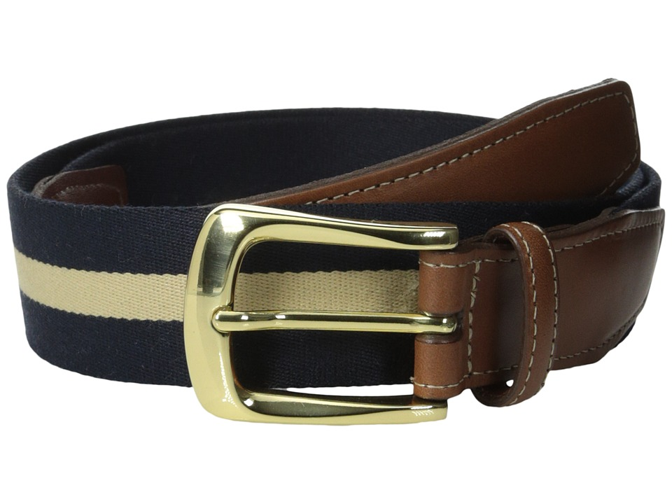 Torino Leather Co. - European Surcingle (Navy/Tan) Men's ...