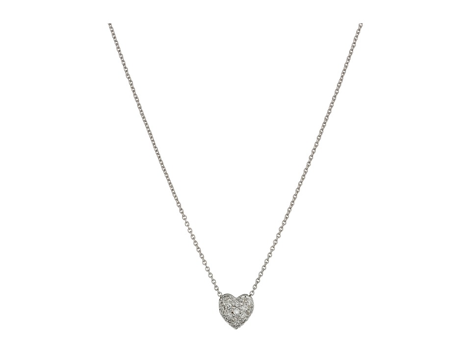 Roberto Coin - Puffed Heart Pendant with Diamonds
