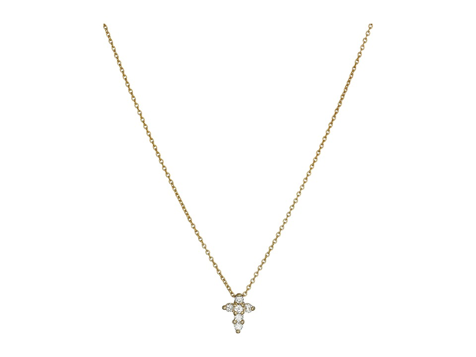 Roberto Coin - Tiny Treasures Baby Cross Pendant With Diamonds