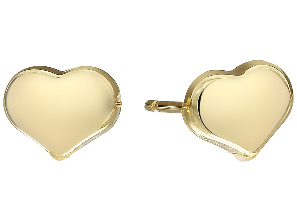Roberto Coin - Solid Heart Stud Earrings