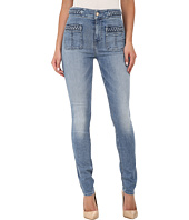 7 For All Mankind - Braided Skinny in Light Blue Hue