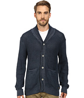 True Religion - Acid Wash Long Sleeve Button Down Cardigan