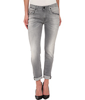 True Religion - Grace Low Rise New Boyfriend Jeans in Grey/White