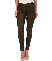 7 For All Mankind - High Waist Ankle Knee Seam Skinny in Hunter Green Crackle