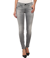 True Religion - Chrissy Mid Rise Super Skinny Jeans in Grey/White