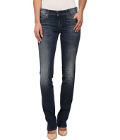 True Religion - Cora Mid Rise Straight Jeans in Old Blinston Blue