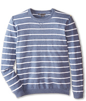 Vince Kids - Vintage Melange Striped Crew Neck (Big Kids)