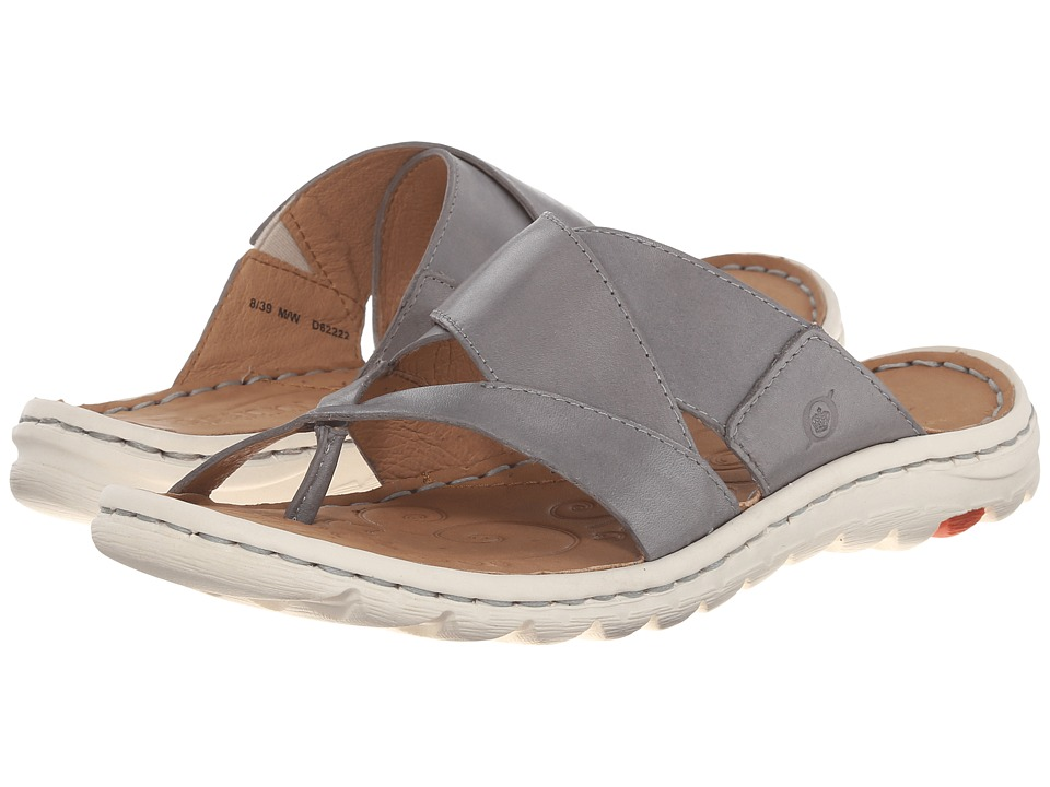 Born Sorja Grey Full Grain Leather Womens Sandals