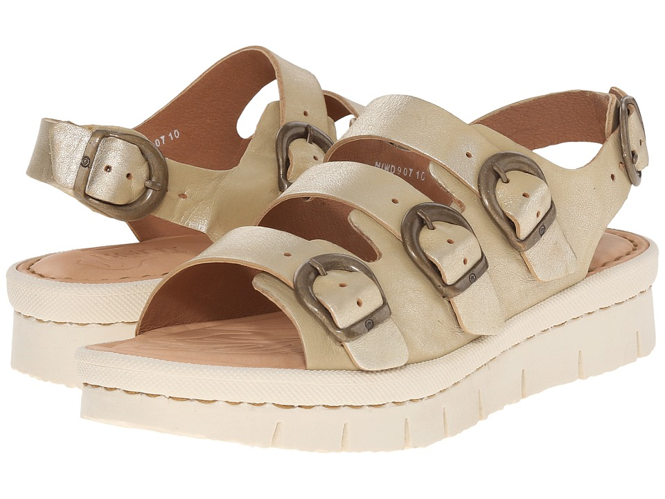 Born Azores Gold Metallic Full Grain Leather Womens Sandals