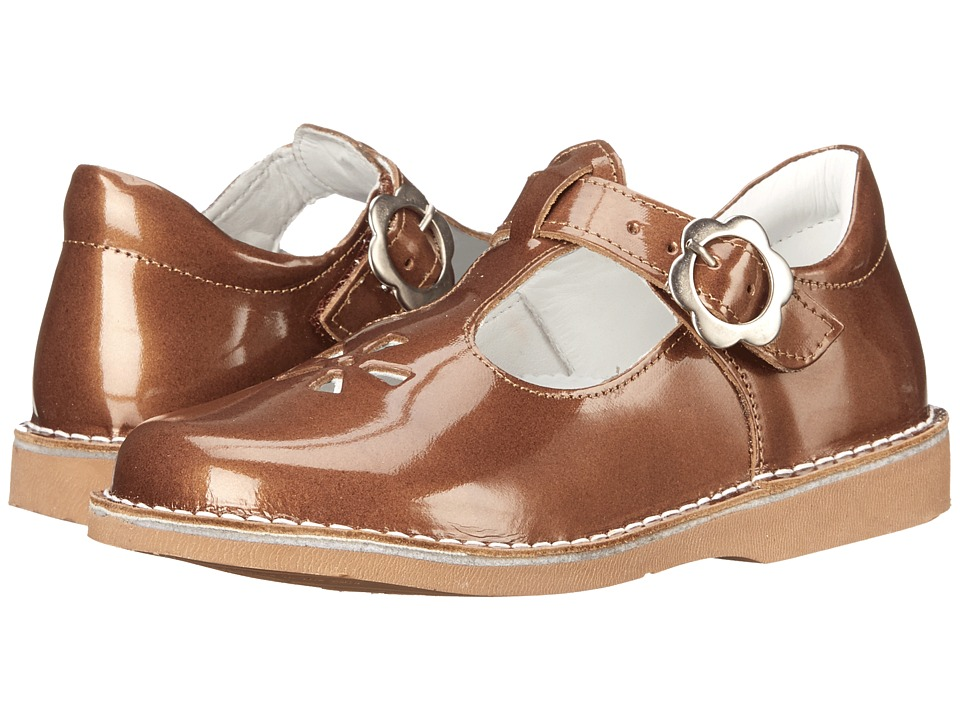Kid Express Molly Toddler/Little Kid/Big Kid Bronze Patent Girls Shoes