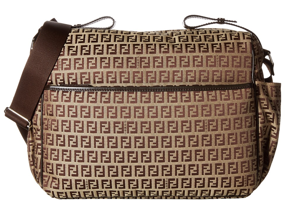 Fendi Kids - All Over Diaper Bag (Brown) Diaper Bags