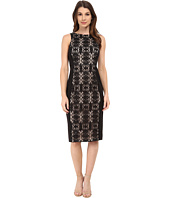 Maggy London - Ribbon Scroll Medallion Sleeveless Sheath