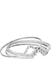 Lucky Brand - Silver Geo Bangle Set