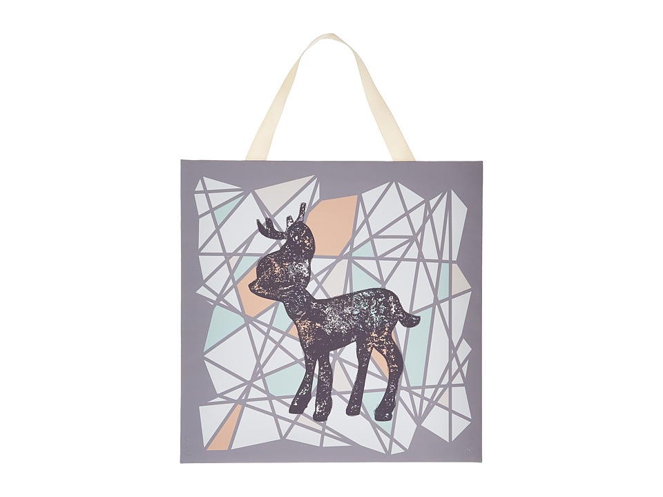lolli LIVING Canvas Art 15 x 15 Deer Silohouette Accessories Travel