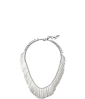 Lucky Brand - Short Silver Feather Necklace