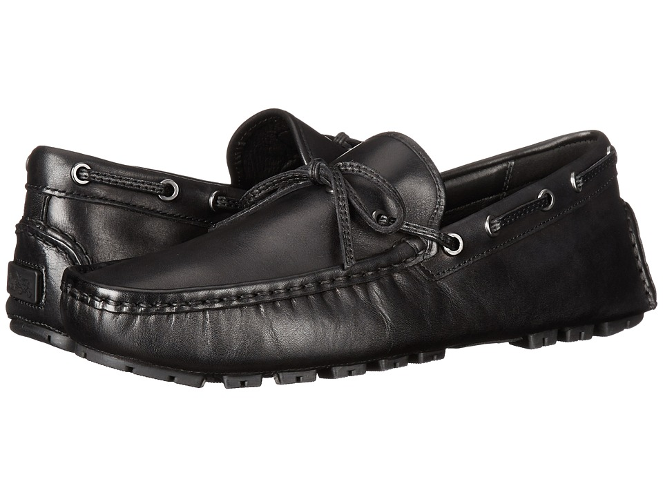 COACH - Crosby Lace (Black Leather) Mens Slip on  Shoes