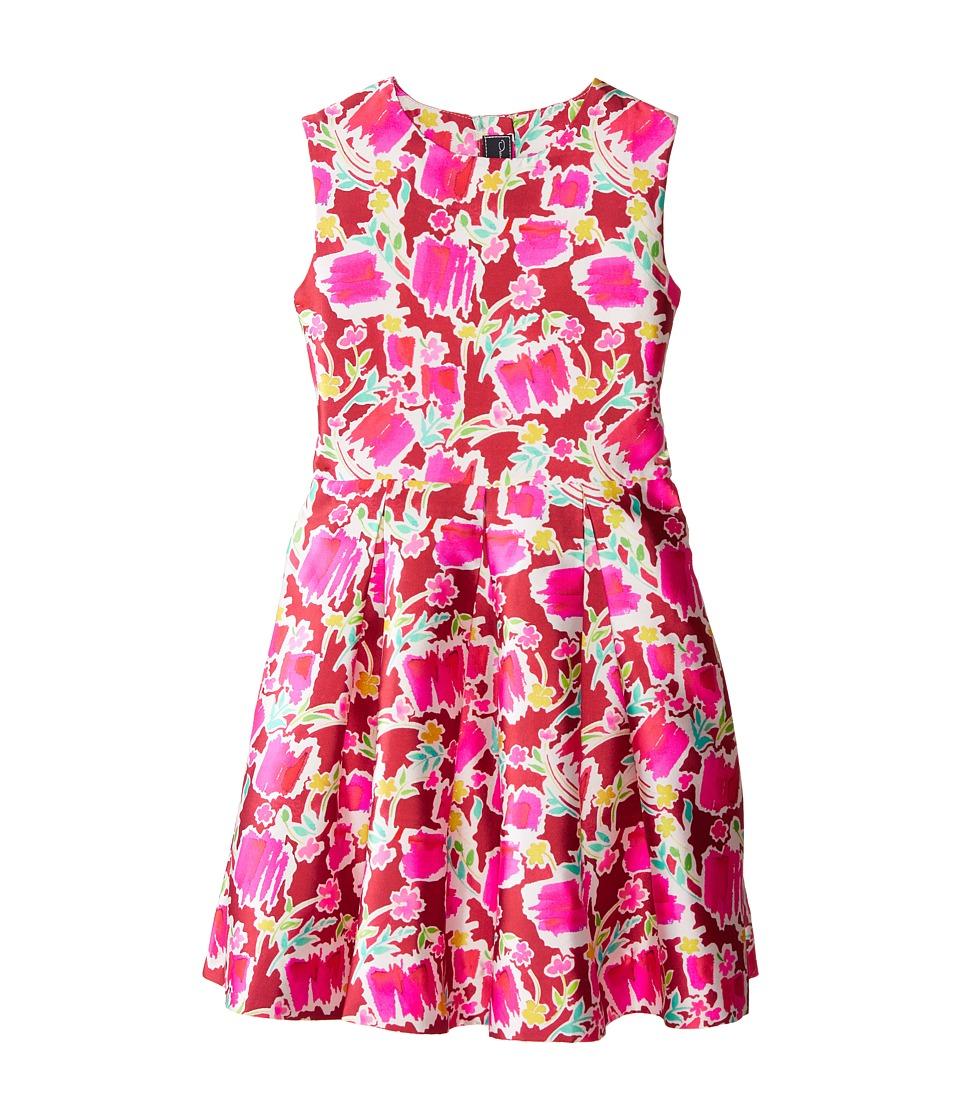 Oscar de la Renta Childrenswear Blossom Sketch Dress Toddler/Little Kids/Big Kids Brick Multi Girls Dress