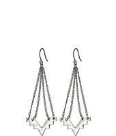 Lucky Brand - Silver Geo Chandelier Earrings