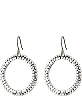 Lucky Brand - Silver Dangle Hoop Earrings