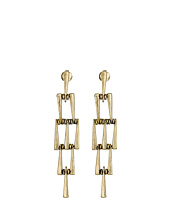 Lucky Brand - Gold Geo Linear Drop Earrings