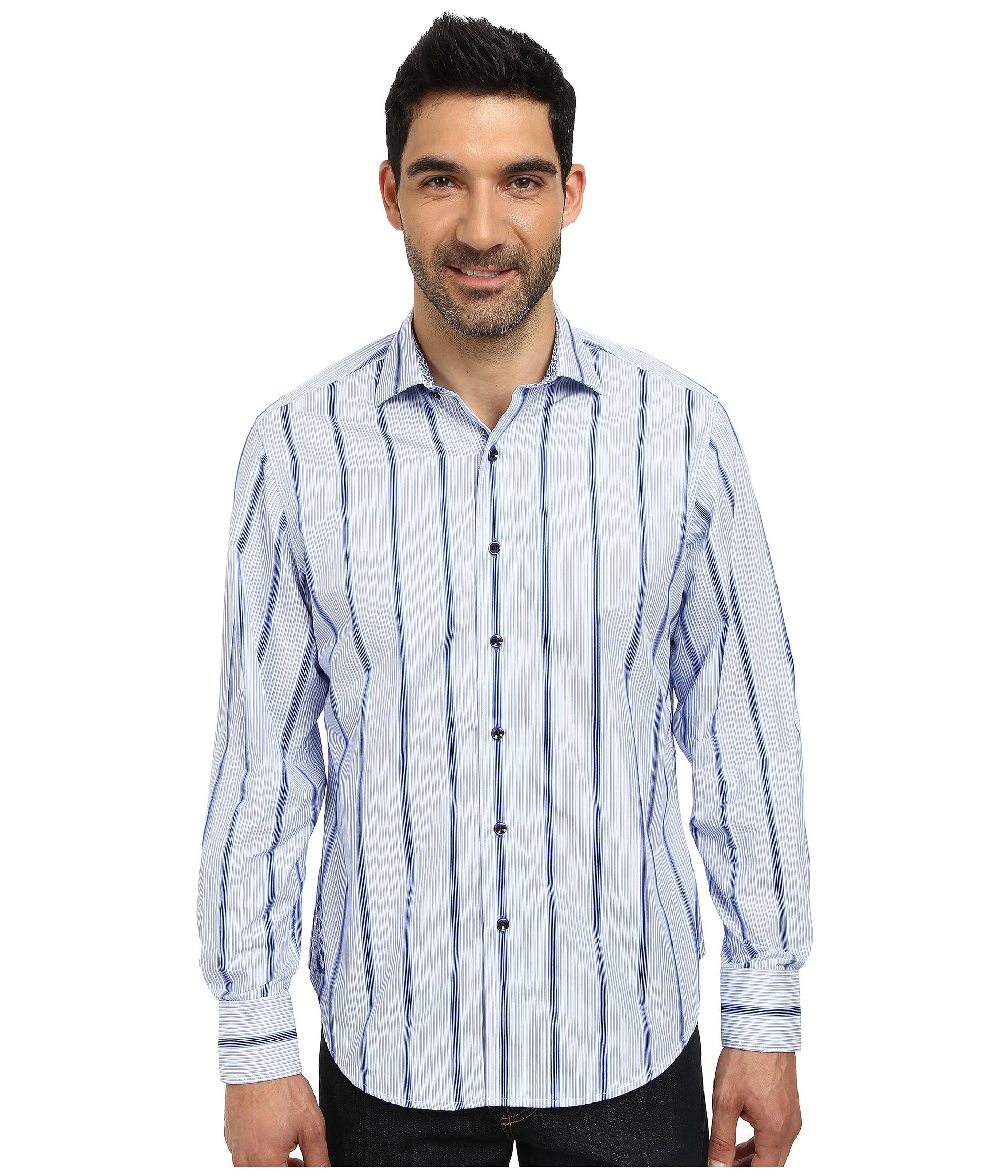 Robert graham ocean pointe long sleeve woven shirt for Robert graham tall shirts