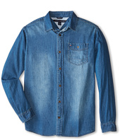 Tommy Hilfiger Kids - Long Sleeve Woven Max Denim Shirt (Big Kids)