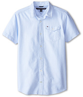 Tommy Hilfiger Kids - Short Sleeve Solid Oxford Shirt (Big Kids)