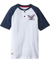 Tommy Hilfiger Kids - Marled Short Sleeve Henley Tee (Big Kids)